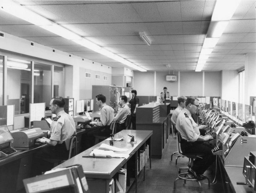 Telegraph Office at Info Room circa 1970s